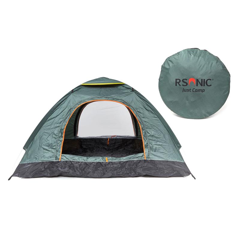 RSonic Pop Up Wurfzelt Campingzelt mit Tragetasche und Tragegurt 2 3 Personen Zelt
